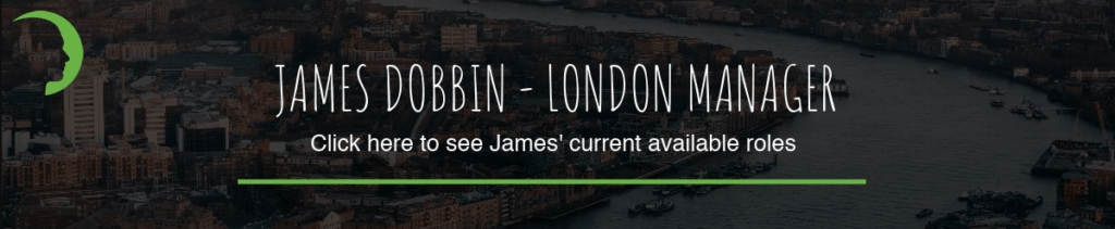 Image linking to a London Procurement Manager role James Dobbin is recruiting for.