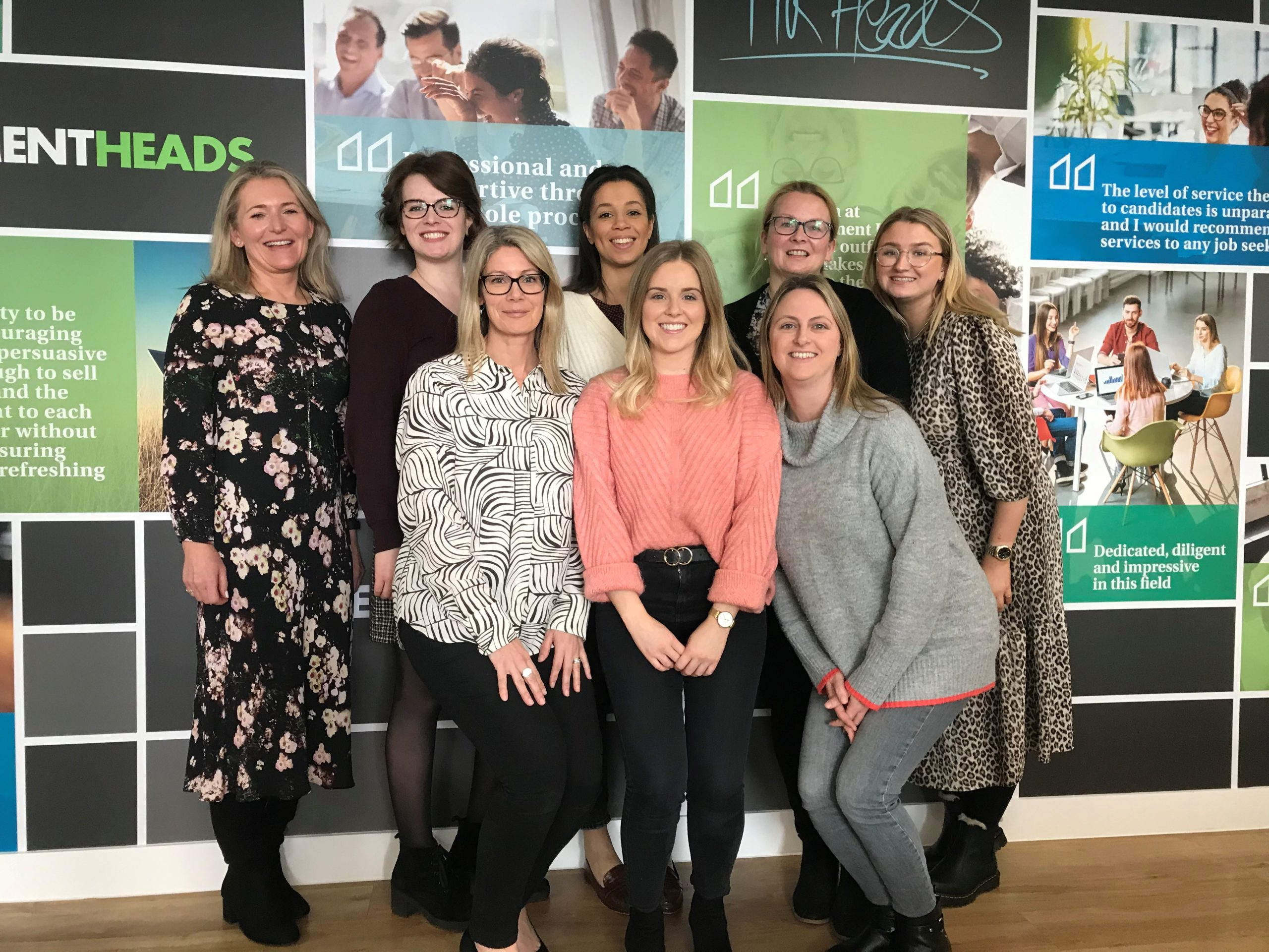 Picture of the Heads Resourcing team for International WOmen's Day